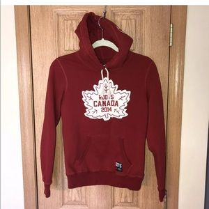 Rare Roots 2014 Canada Hoodie Red Maple Leaf XS